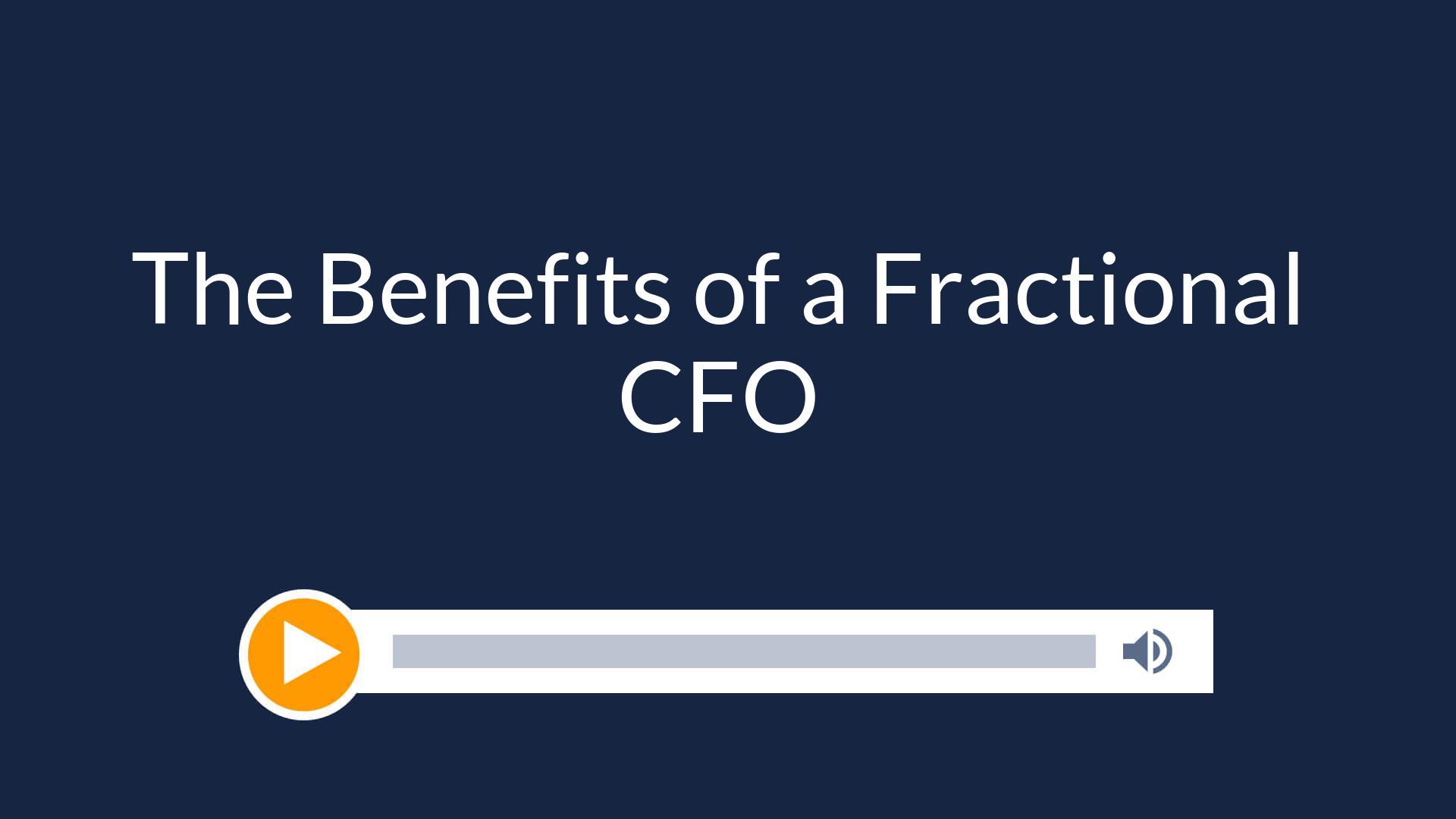 Benefits of a Fractional CFO